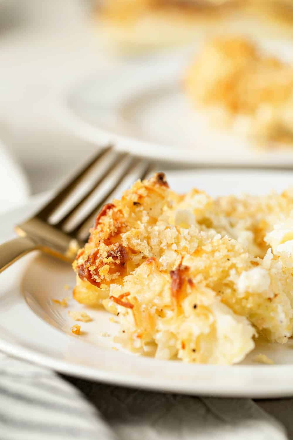Cauliflower Gratin is tbest side dish for your holiday table. It can even be made in advance!