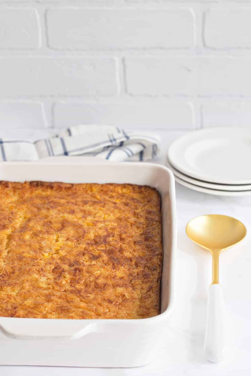Easy Corn Casserole is simple and delicious. A awesome side dish for any occasion.