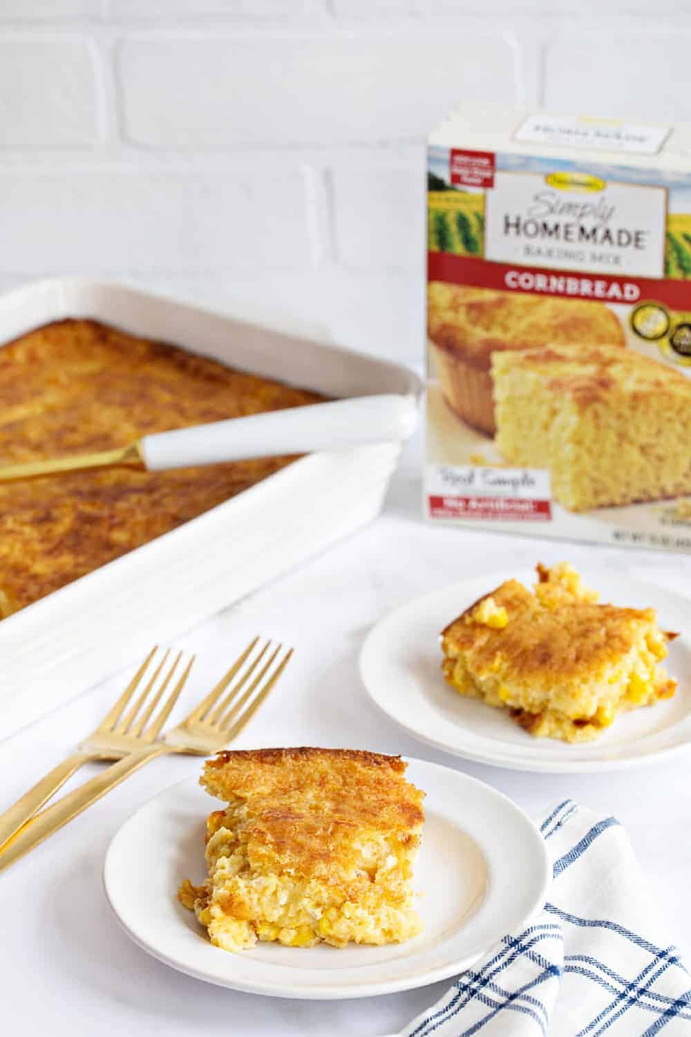Easy Corn Casserole comes together in no time and is the perfect side dish to feed a crowd.
