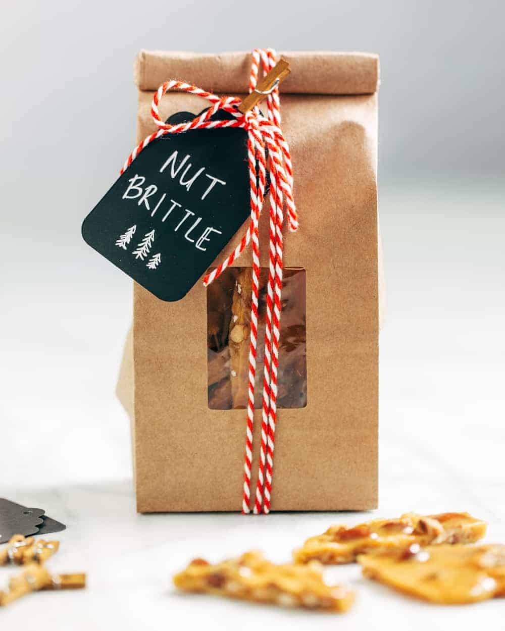 This Nut Brittle recipe uses salted mixed nuts for a delicious twist on the holiday classic. Package this candy up to give as a sweet holiday hostess gift.