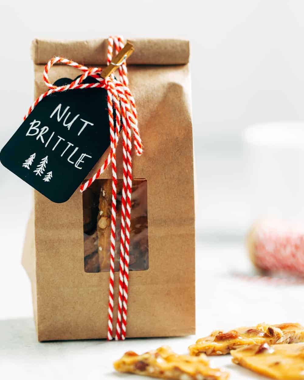 This Nut Brittle recipe uses salted mixed nuts for a delicious twist on the holiday classic.
