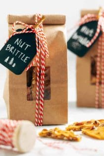 Nut Brittle uses salted mixed nuts for a twist on the holiday classic.