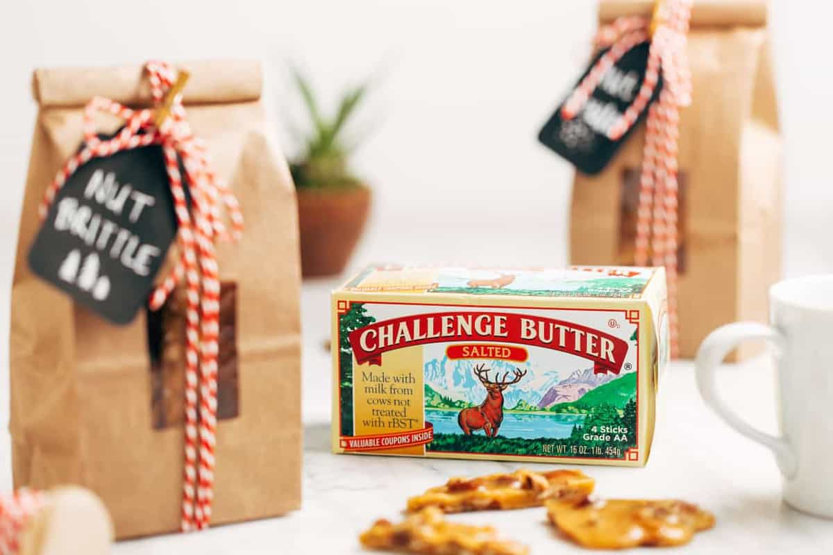 Nut Brittle makes the perfect holiday hostess gift