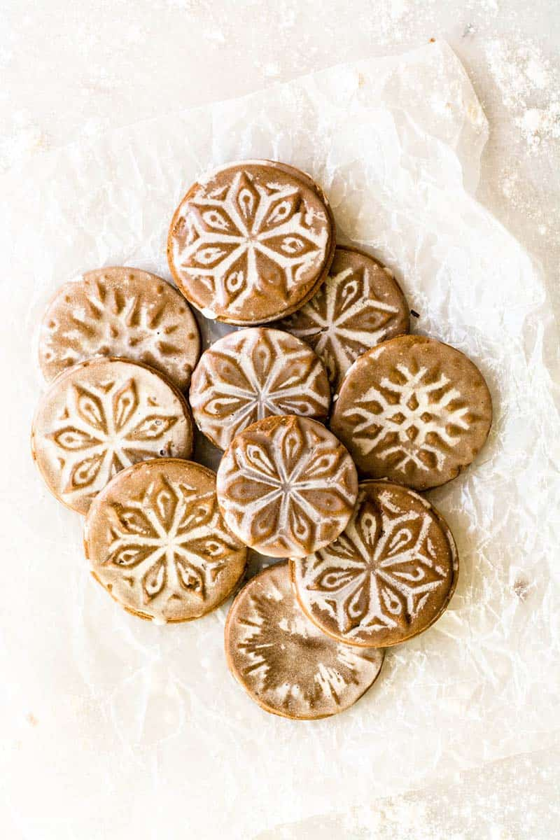 Glazed Gingerbread Cookies