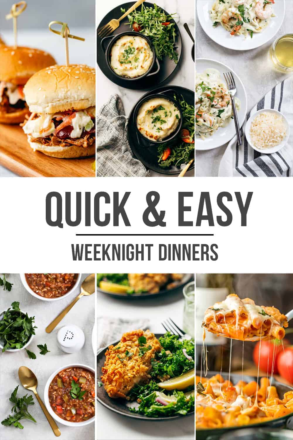 Change up your dinner routine with these 10 quick and easy weeknight dinners!
