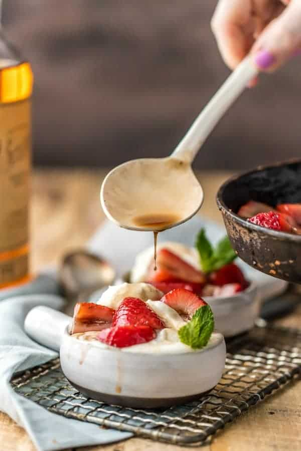 Strawberries Foster is a fun twist on the classic bananas foster