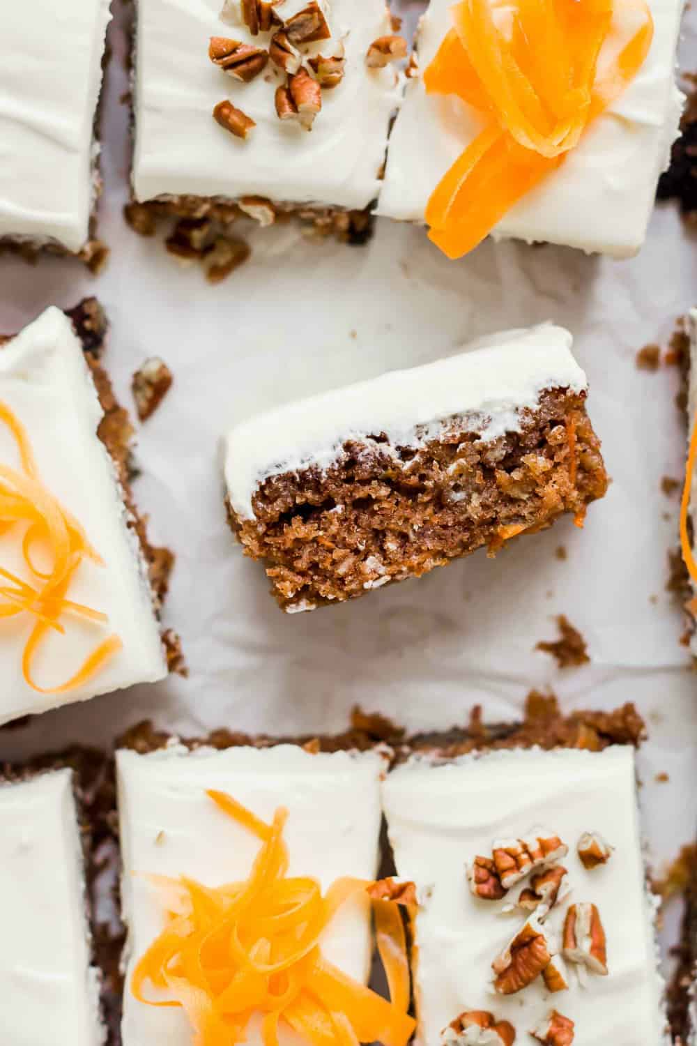 Top this moist carrot cake with sweet frosting for a delightful copycat of J Alexander's cake!