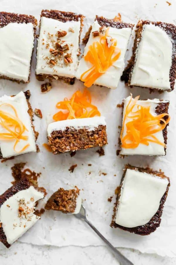 This copycat version of J. Alexander's Carrot Cake is every bit as perfect as the original: full of carrots, pineapple and coconut, and soaked with a buttermilk syrup for a melt-in-your-mouth slice of cake.