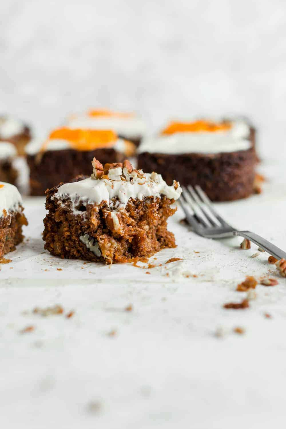 You'll love the moist cake and sweet frosting for this copycat J Alexander's Carrot Cake recipe!