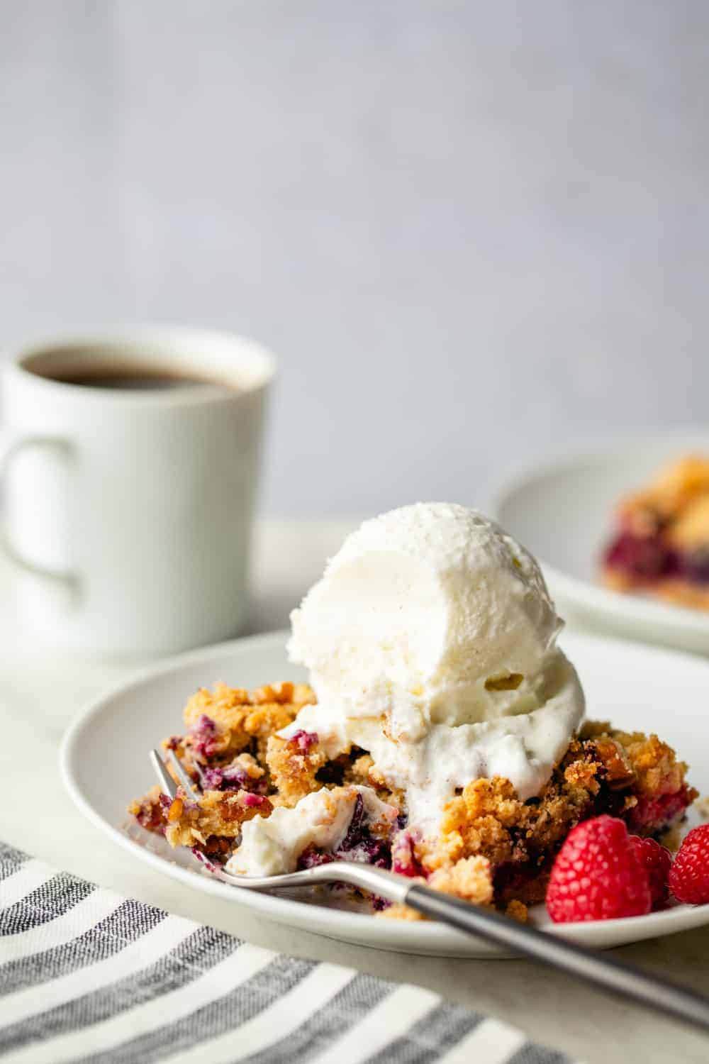 Berry Crumble Bars are best shared with friends - and with a scoop of ice cream!