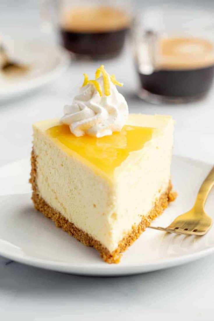 Tart Lemon Cheesecake sits atop an almond-graham cracker crust to add a delightful nuttiness to the traditional graham cracker crust. Finish the cheesecake with lemon curd for double the pucker!