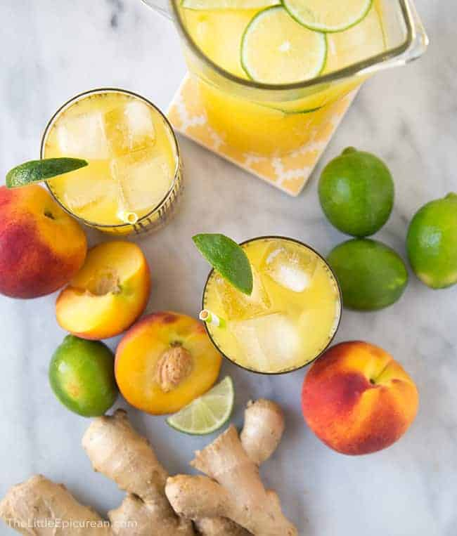 Ginger Peach Limeade