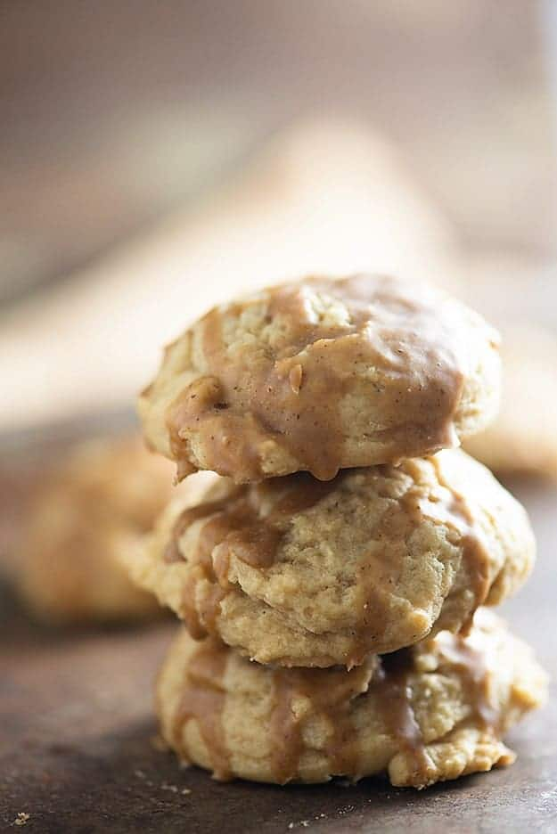 Brown Sugar Cookies with Maple Glaze