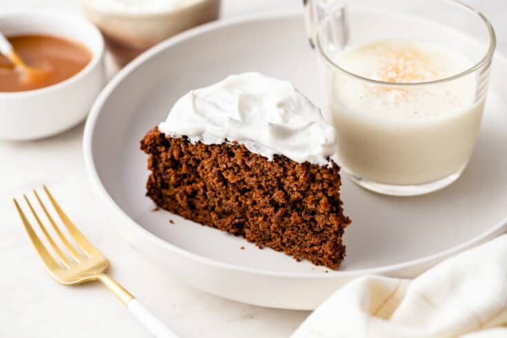 Gingerbread Cake is rich, moist, and full of ginger flavor. This holiday classic is easy to whip up and will be a hit with your guests!