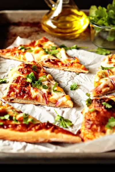 BBQ Chicken Pizza Recipe | My Baking Addiction