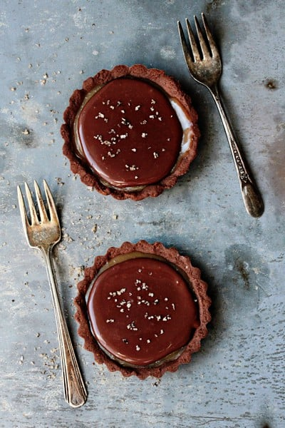 Holiday Recipe Exchange | Chocolate Caramel Tarts
