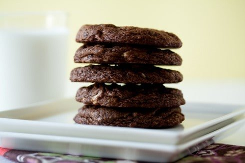 Post image for Chewy Chocolate Almond Cookies