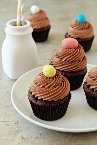 upon Whoppers Easter Robin Eggs. Cupcakes. Chocolate Malt Cupcakes