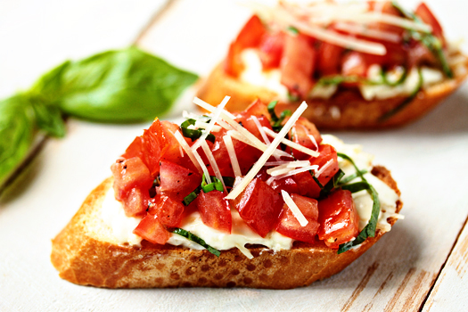 Post image for Roasted Garlic and Tomato Bruschetta