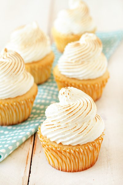 Lemon Meringue Cupcakes Recipe — Dishmaps