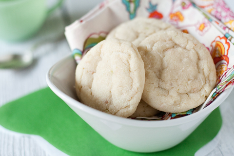 chewy lime sugar cookies yield about 3 dozen cookies prep
