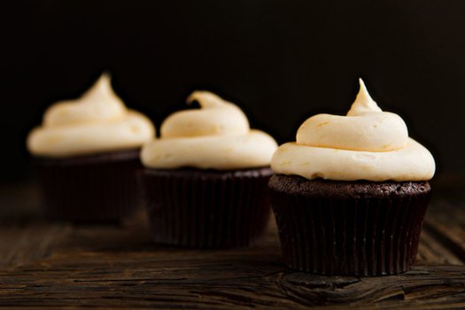Post image for Chocolate Cupcakes with Orange Cream Cheese Frosting