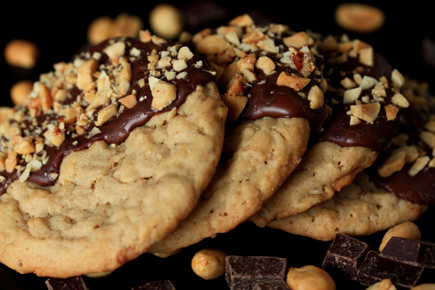 Cookies with chocolate peanut butter