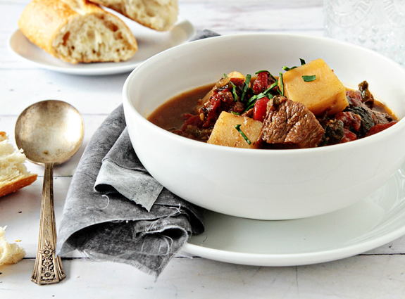 Post image for Roasted Poblano Beef Stew