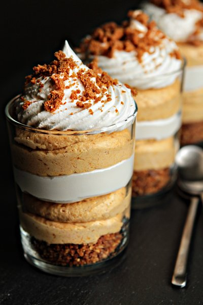 Simple Pumpkin Cheesecake Trifles | My Baking Addiction