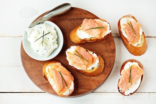 Post image for Smoked Salmon and Goat Cheese Bruschetta