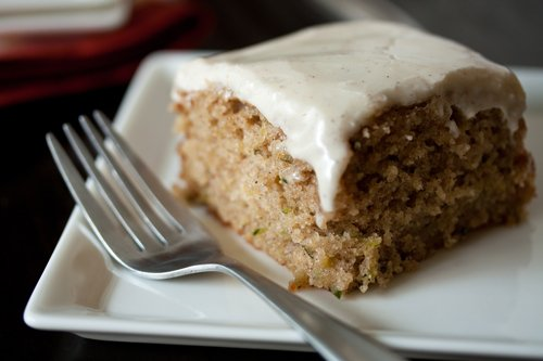 Maple Cream Cheese Frosting spiced zucchini cake with maple cream cheese frosting | my baking
