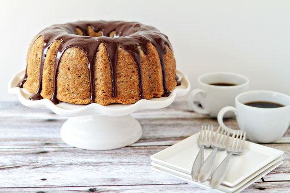 Post image for Banana Bundt Cake with Chocolate Ganache