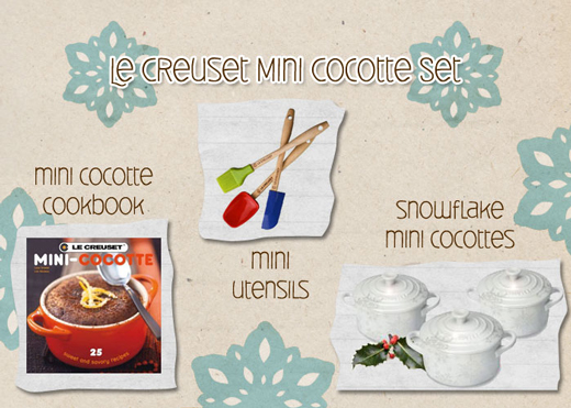 Post image for Giveaway: Le Creuset Mini Cocotte and Utensil Set